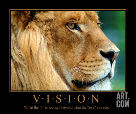 Vision - African Lion Stretched Canvas Print