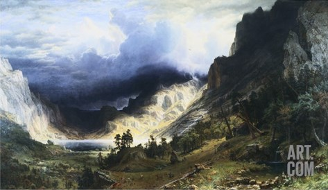 A Storm in the Rocky Mountains - Mt. Rosalie Stretched Canvas Print