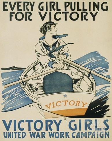 Every Girl Pulling for Victory Stretched Canvas Print