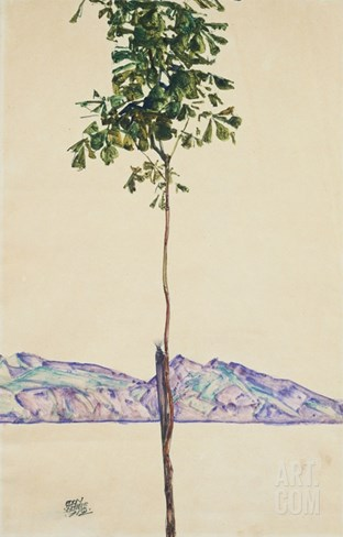 Little Tree (Chestnut Tree at Lake Constance) Stretched Canvas Print