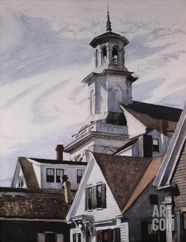 Methodist Church, Provincetown Stretched Canvas Print