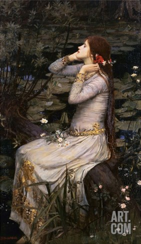Ophelia Stretched Canvas Print