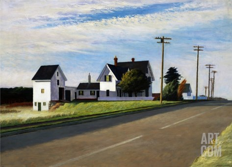 Route 6, Eastham Stretched Canvas Print