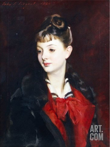 Portrait of Madamoiselle Suzanne Poirson, 1884 Stretched Canvas Print