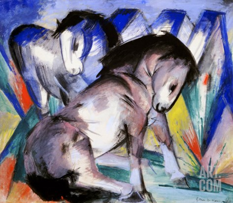 Two Horses, 1913 Stretched Canvas Print