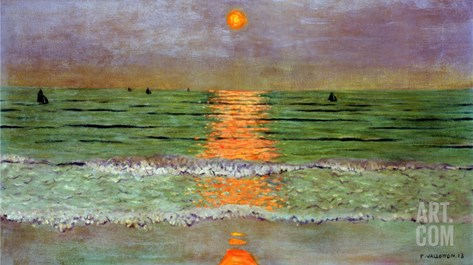 Sunset, 1913 Stretched Canvas Print