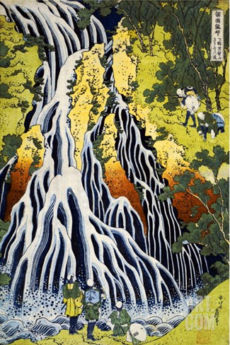 The Kirifuri Waterfall at Mt. Kurokami in Shimotsuke Province Stretched Canvas Print