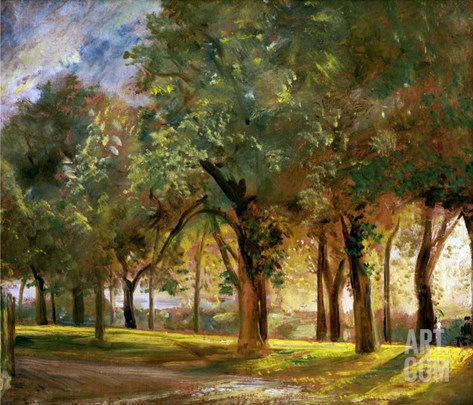 Judge's Walk, Hampstead, circa 1820 Stretched Canvas Print