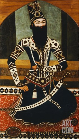 Portrait of Fath Ali Shah Qajar Stretched Canvas Print