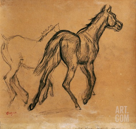 Horses, circa 1882 Stretched Canvas Print