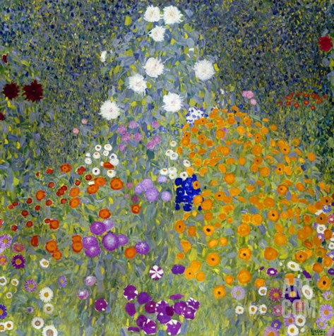 Flower Garden, 1905-07 Stretched Canvas Print