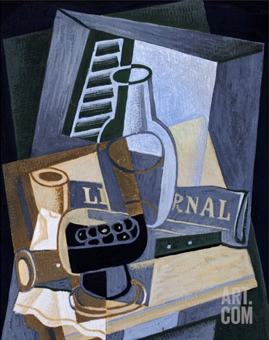 Still life in Front of a Window, 1922 Stretched Canvas Print