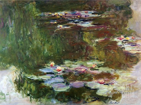 Lily Pond, 1881 Stretched Canvas Print