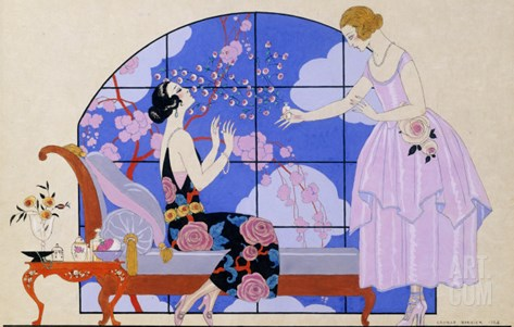 Two Ladies in a Salon, 1924 Stretched Canvas Print