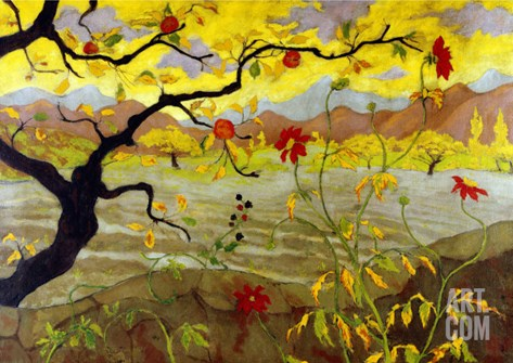 Apple Tree with Red Fruit, c.1902 Stretched Canvas Print