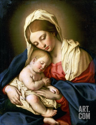 The Madonna and Child Stretched Canvas Print