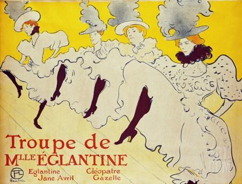 La Troupe de Mademoiselle Eglantine, 1896 Stretched Canvas Print