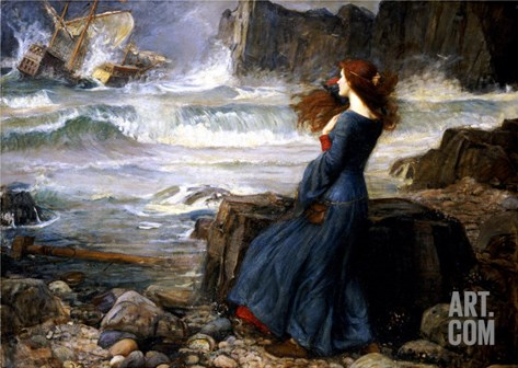Miranda, the Tempest, 1916 Stretched Canvas Print