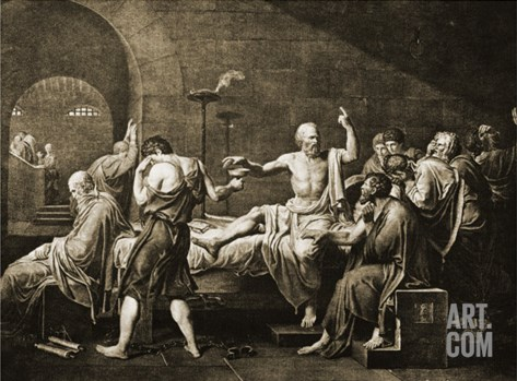Death of Socrates Stretched Canvas Print