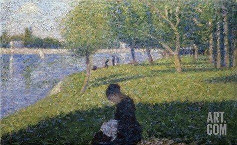 Study for Sunday on la Grande Jatte Stretched Canvas Print