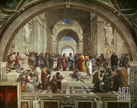 The School of Athens Stretched Canvas Print