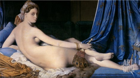 The Grand Odalisque Stretched Canvas Print