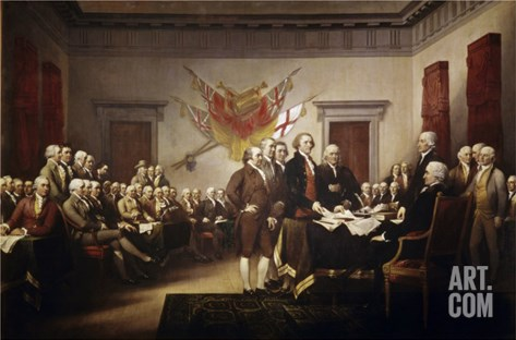 Signing of the Declaration of Independence Stretched Canvas Print