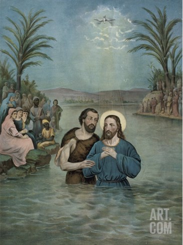 The Baptism of Jesus Christ Stretched Canvas Print