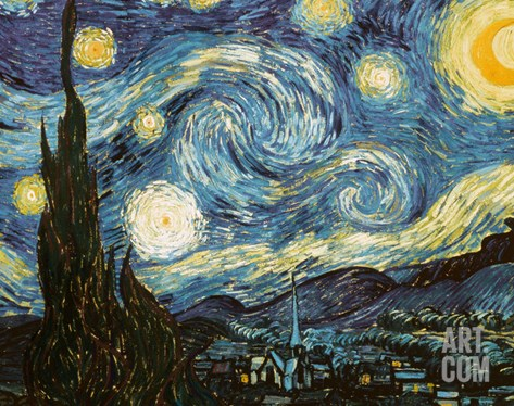 Starry Night, c.1889 Stretched Canvas Print
