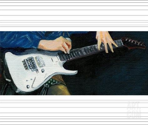 Ibanez Guitar Stretched Canvas Print