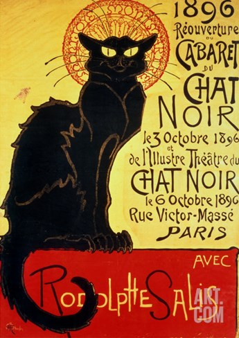 Reopening of the Chat Noir Cabaret, 1896 Stretched Canvas Print