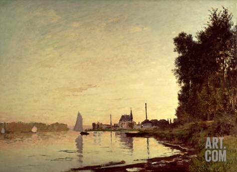 Argenteuil, Late Afternoon Stretched Canvas Print