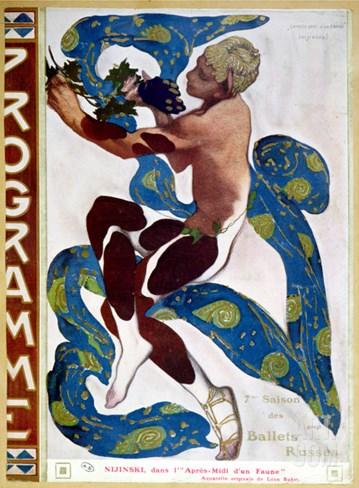 "Nijinsky's Faun Costume in ""L'Apres Midi D'Un Faune"" by Claude Debussy Stretched Canvas Print"