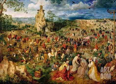 The Road to Calvary, 1564 Stretched Canvas Print
