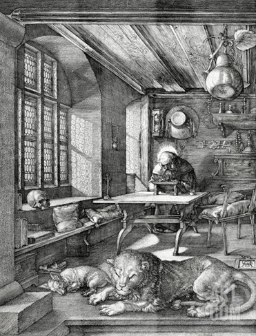 St. Jerome in His Study, 1514 Stretched Canvas Print
