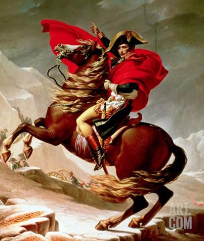 Napoleon Crossing the Alps, circa 1800 Stretched Canvas Print