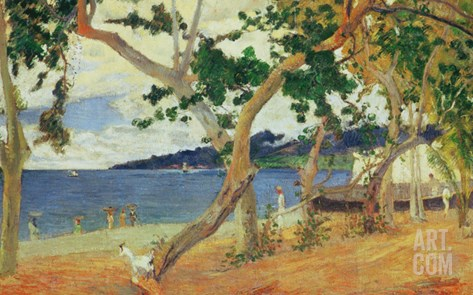 By the Seashore, Martinique, 1887 Stretched Canvas Print
