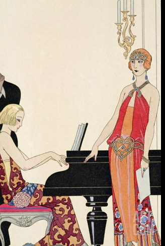 Incantation, Illustration for 'Gazette Du Bon Ton', 1922 (Pochoir Print) Stretched Canvas Print