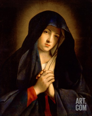 The Madonna in Sorrow Stretched Canvas Print