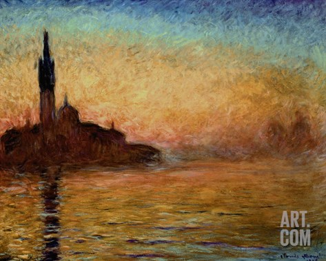 View of San Giorgio Maggiore, Venice by Twilight, 1908 Stretched Canvas Print