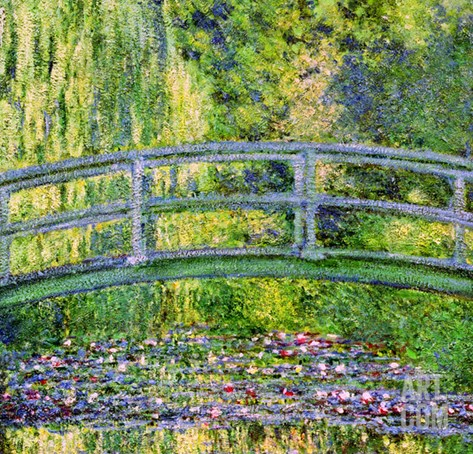 The Waterlily Pond with the Japanese Bridge, 1899 Stretched Canvas Print