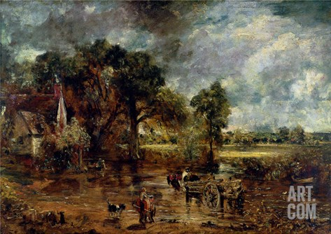 "Full Scale Study for ""The Hay Wain,"" circa 1821 Stretched Canvas Print"