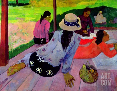 The Siesta, 1891-2 Stretched Canvas Print