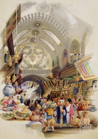 The Missr Tcharsky, or Egyptian Market, in Constantinople Stretched Canvas Print