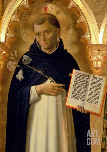 The Perugia Altarpiece, Side Panel Depicting St. Dominic, 1437 (Detail) Stretched Canvas Print