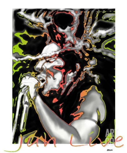 Jah Live Stretched Canvas Print