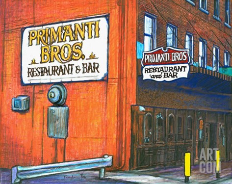 Primanti Bros. Strip District Pittsburgh Stretched Canvas Print