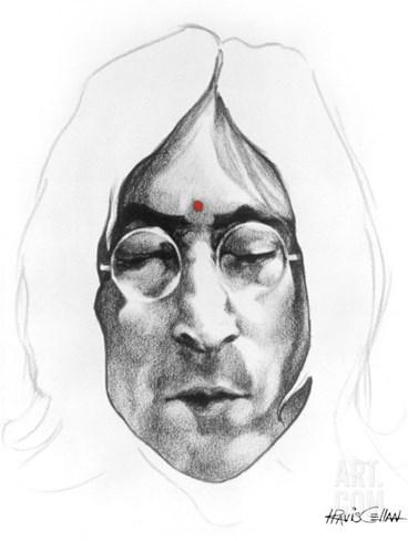 John Lennon Stretched Canvas Print
