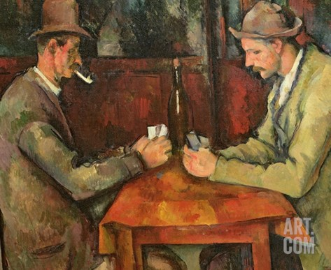 The Card Players, 1893-96 Stretched Canvas Print