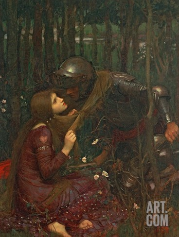 La Belle Dame Sans Merci, 1893 Stretched Canvas Print